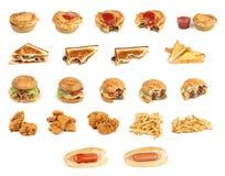 Comida basura mezclada Foto de archivo libre de regalías