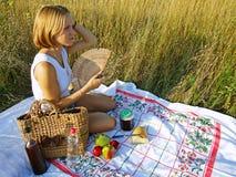 Comida campestre al aire libre Imagen de archivo