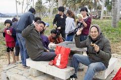 Comida campestre china divertida de la compañía Imagen de archivo libre de regalías