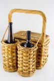 Comida campestre con el vino Fotografía de archivo libre de regalías