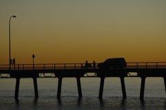 Comida campestre de la puesta del sol Fotografía de archivo