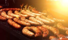 Comida campestre del verano de la barbacoa Fotografía de archivo