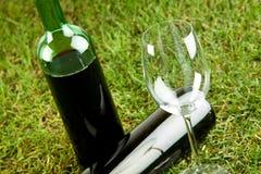 Comida campestre del vino fotografía de archivo libre de regalías