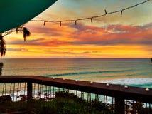 Comida campestre en la puesta del sol Fotos de archivo libres de regalías