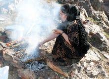 Comida campestre en las montañas Imagenes de archivo