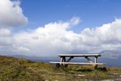 Comida campestre en las nubes Foto de archivo libre de regalías