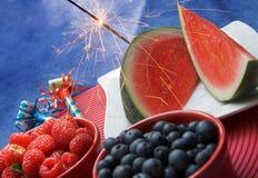 Comida campestre patriótica Fotos de archivo