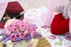 Comida campestre romántica Foto de archivo