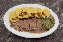 Comida checa o alemana (cocina) Imagen de archivo libre de regalías
