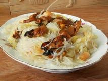 Comida china del vegetariano de Luohan del Año Nuevo Fotos de archivo libres de regalías