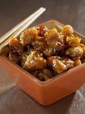 Comida china - el pollo de la TSO general Fotografía de archivo libre de regalías