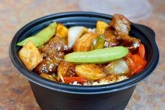 Comida china sabrosa 2 foto de archivo