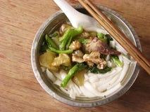 Comida china, sopa de fideos del arroz Imagen de archivo