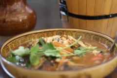 Comida china típica en China foto de archivo