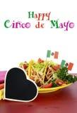 Comida colorida brillante del partido de Cinco de Mayo fotos de archivo