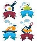 Comida común y comida diaria stock de ilustración