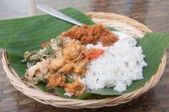 Comida de Bali Foto de archivo libre de regalías