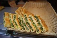 Comida de China: crepe de la cebolla verde Fotos de archivo libres de regalías