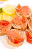 Comida de color salmón Imagen de archivo libre de regalías