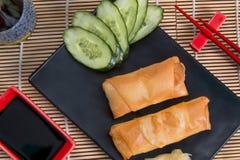 Comida de Harumaki Japón Foto de archivo libre de regalías