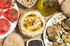 Comida de Hummus foto de archivo