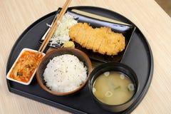 Comida de Japón de la fritada del cerdo Imagen de archivo