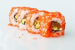 Comida de Japón del rollo del japonés del sushi fresca Fotos de archivo