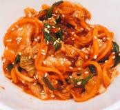 Comida de Kimchi Imágenes de archivo libres de regalías