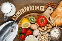 Comida de la alergia Foto de archivo libre de regalías