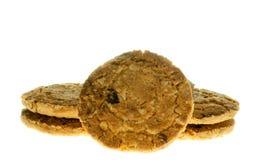 Comida de la avena de las galletas con la fresa. Imagen de archivo libre de regalías