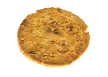 Comida de la avena de las galletas con la fresa. Foto de archivo