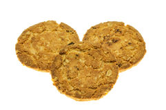 Comida de la avena de las galletas con la fresa. Imagenes de archivo