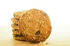Comida de la avena de las galletas con la fresa. Fotos de archivo libres de regalías