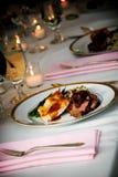 Comida de la boda Foto de archivo libre de regalías