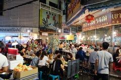 Comida de la calle en Chinatown de Bangkok Foto de archivo libre de regalías