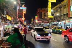Comida de la calle en Chinatown de Bangkok Imagen de archivo