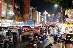 Comida de la calle en Chinatown de Bangkok Fotografía de archivo