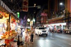 Comida de la calle en Chinatown de Bangkok Imagenes de archivo