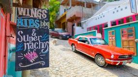 Comida de la calle en ciudad del sayulita, cerca del mita del punta, México Fotos de archivo libres de regalías