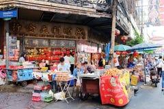 Comida de la calle en el camino de Yaowarat Fotografía de archivo libre de regalías