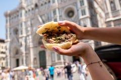 Comida de la calle en Florencia foto de archivo libre de regalías
