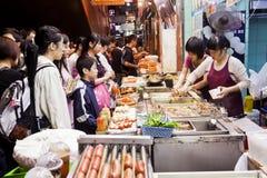 Comida de la calle en Hong Kong Imagenes de archivo