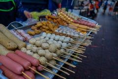 Comida de la calle en la ciudad de China, Bangkok Fotos de archivo libres de regalías