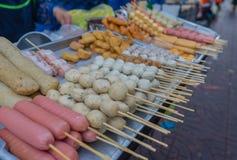Comida de la calle en la ciudad de China, Bangkok Fotografía de archivo