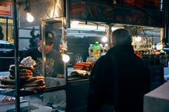 Comida de la calle en New York City Imagen de archivo