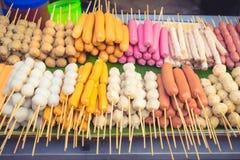 Comida de la calle de la parada de la comida en Tailandia imagenes de archivo