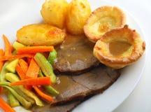 Comida de la carne de vaca de carne asada Fotos de archivo libres de regalías