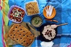 Comida de la comida campestre Imagen de archivo libre de regalías