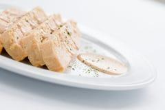 Comida de la croqueta de pescados Foto de archivo libre de regalías