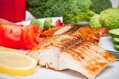 Comida de la dieta de los salmones Imagenes de archivo